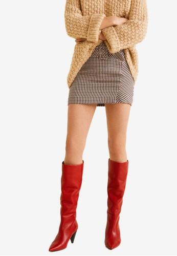 MANGO red Belted Skirt B3AFAAA93DE60BGS_1