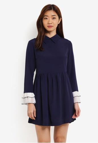 ZALORA navy Babydoll Shirt Dress 8B8A9AA64E1041GS_1