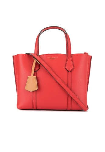 TORY BURCH red Tory Burch Perry Small Triple Compartment Tote Bag Brilliant red 56249 B7127AC247DD19GS_1