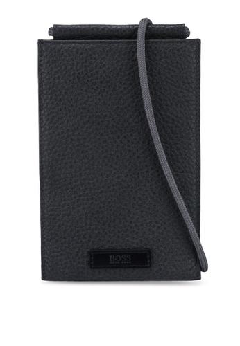 BOSS grey Trucker Phone Pocket - BOSS Accessories B6C25AC4FFB777GS_1