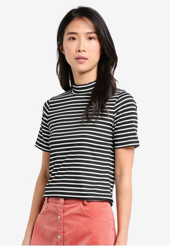 8dd163df7323f5 Shop ZALORA BASICS Essential Mock Neck Top Online on ZALORA Philippines