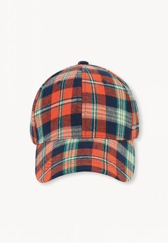 d2c007b7 Buy Pomelo Plaid Cap - Orange | ZALORA HK