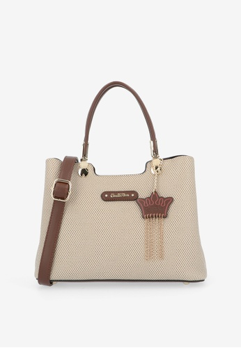 Carlo Rino brown Brown First of Her Name Top Handle Tote 576E4AC37243E8GS_1