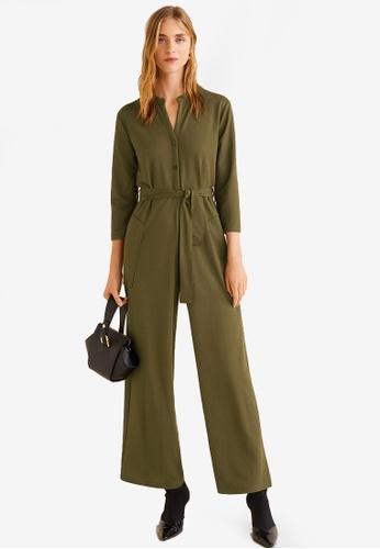 Mango green Long Chest-Pocket Jumpsuit 202FAAA2082AF3GS_1