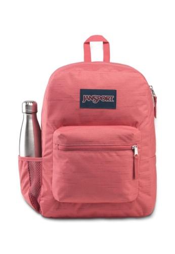 Jansport pink Jansport Unisex Cross Town Remix Backpack Slate Rose Slub - 26L 74BDAACBF1DEAAGS_1