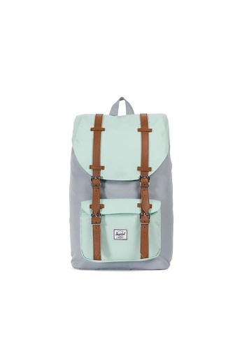 Herschel multi Herschel Little America M Backpack (Quarry/Yuccca) - 17L DD429AC87B36ADGS_1