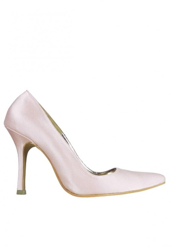 Jacque red and multi Silky Blush Pink Heels JA262SH88FZNMY_1