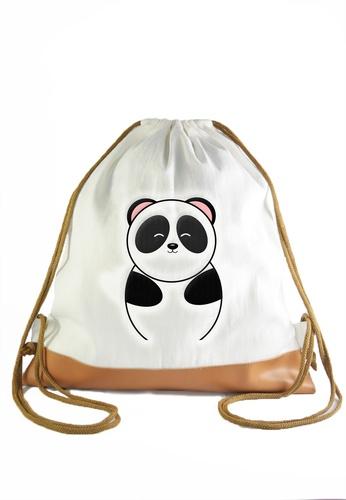 Myriad Print Concepts white Drawstring Bag Panda MY418AC31WLGPH_1