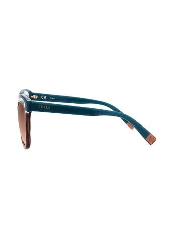 aa80472323 Buy Furla Furla SU4957 Sofia Brown Blue Sunglasses Online