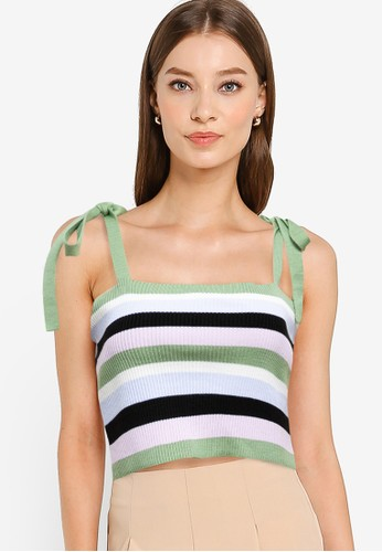 Trendyol green Tie Strap Sleeveless Knit Top AA1D1AA918DE23GS_1