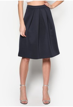 Collection Floral Pleated Skirt