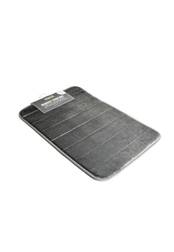 HOUZE grey HOUZE - Memory Foam Mat (Dim: 60x40x1.2cm) Grey Color 60088HLC0569FFGS_1