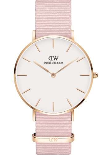 Daniel Wellington pink and gold Petite Rosewater 36mm Rose Gold Watch B9AF9ACADD5B11GS_1