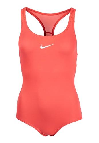 Nike Swim orange Girls Solid Racerback One Piece 0C834KAB7BB22DGS_1