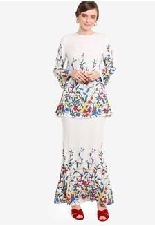 Buy Lubna Wide Sleeves Kurung Set Online on ZALORA Singapore 18c9d4fb73