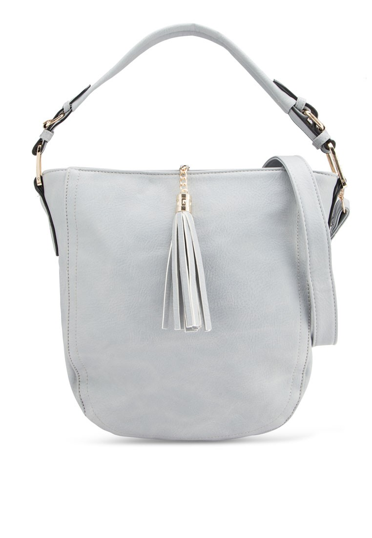 Unisa Casual Fashion Convertible Hobo With Tassel Bag