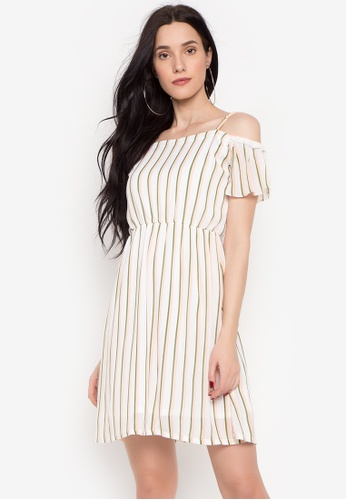 69705894457586 Shop Krizia Striped Off-shoulder with Adjustable Straps Dress Online on ZALORA  Philippines