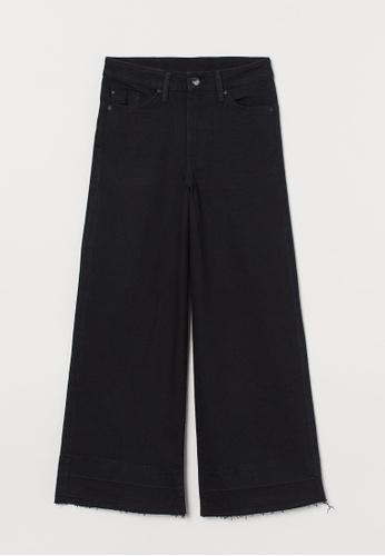 H&M black Culotte High Ankle Jeans B3A3BAAE5F773EGS_1