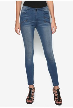Collection Zipped Detail Skinny Jeans