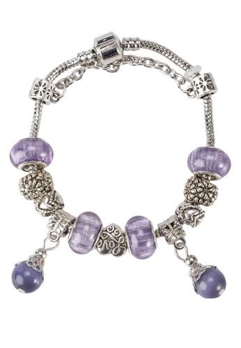 魅力紫花手鐲, 飾品配zalora 順豐件, 手鐲 & 手環