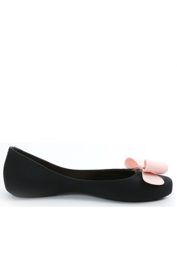 Twenty Eight Shoes black Contrast Color Jelly Flats A-7 TW446SH21NDQHK_1