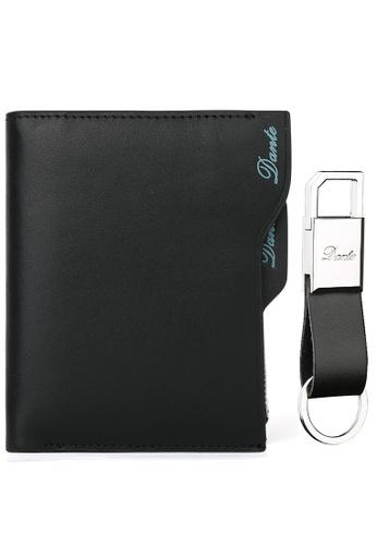 Jackbox black [FREE Key Chain] Dante Premium Leather Scrub Surface Vertical Men's Wallet 855 (Black) JA762AC16QSDMY_1
