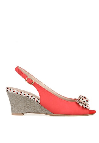 SPUR red Adorable dot bow wedge SP642SH35WYIHK_1