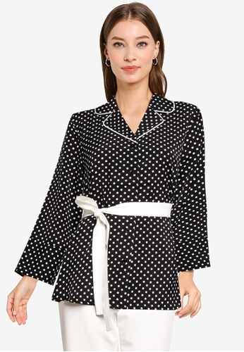 ZALORA WORK multi Long Sleeves Blouse With Sash A91F7AAA12E2D8GS_1