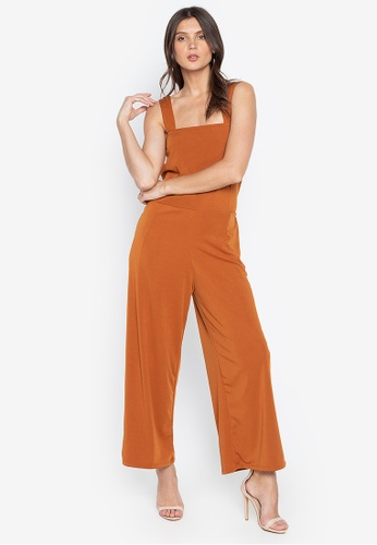 M and M orange Strappy Plain Jumpsuit 12956AA2A4E433GS_1