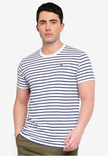 9e7f4d7e514c Buy Hollister Crew Neck Stripe T-Shirt Online on ZALORA Singapore