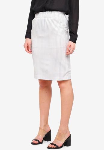 ICHI white Edima Skirt 5B3D8AA71FBFF4GS_1