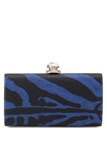 Papillon Clutch blue Zebra Printed Clutch 75B63AC7285AA7GS_1