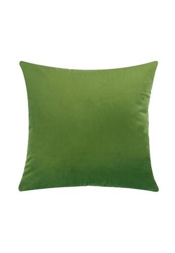 DILAS HOME Basic Velvet Cushion Cover (Olive Green) 04A90HL1E40B4CGS_1