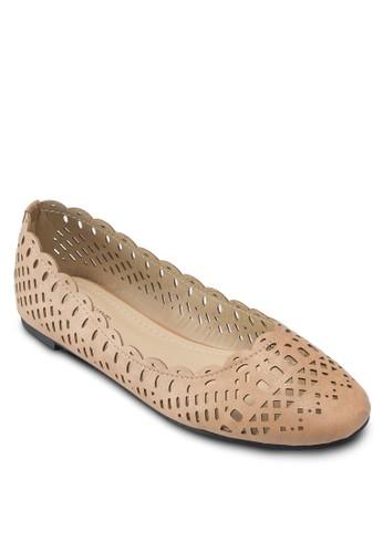 Karly 基本款鏤空esprit服飾平底鞋, 女鞋, 鞋