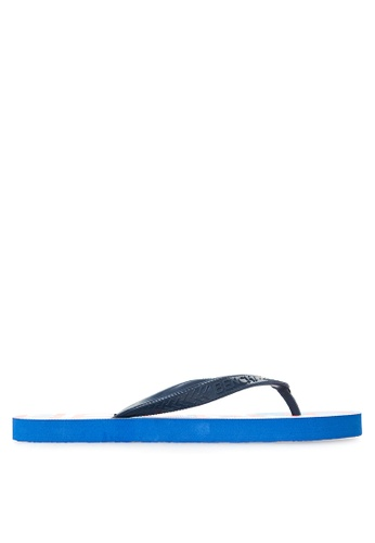 BENCH blue Printed Rubber Slippers BE550SH94MBTPH_1