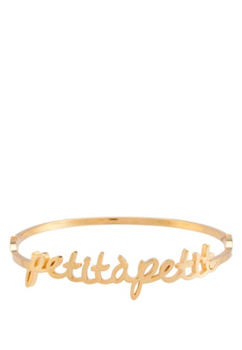 Petit A Petit 立體文字金屬手鐲, 飾品esprit outlet 台灣配件, 飾品配件