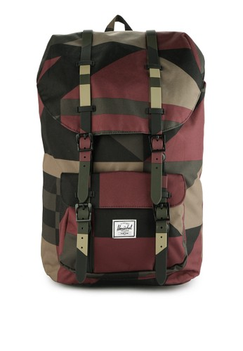 Herschel red and brown Little America Backpack 3E0ABACB719A44GS_1