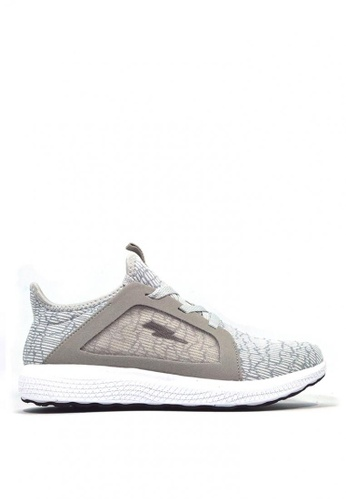 ACCEL black and grey and white Wahoo Running Shoes 765D4SHE1EFE87GS_1