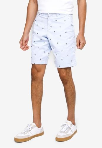 Gap blue Print Chino Shorts E2C05AA259D47BGS_1