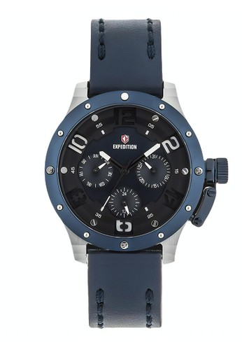 Expedition blue Expedition Jam Tangan - Blue Silver - Leather Strap - 6381 BFLTUBU C9280AC57B7FDDGS_1