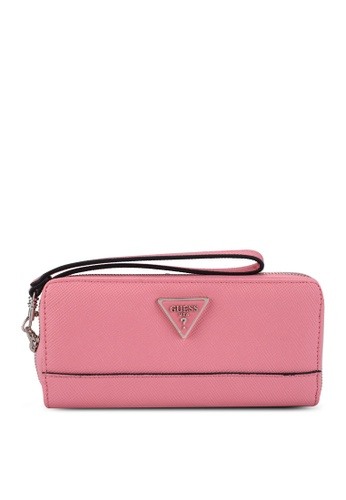 GUESS pink Cordelia Large Zip Around Wallet E9FEDAC8A43293GS_1