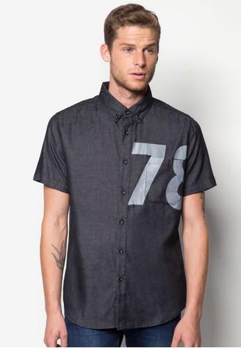 79 休閒短袖襯esprit 尺寸衫, 服飾, 印花襯衫