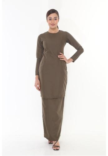 Amar Amran green Baju Kurung Moden Qasandra 1F003AA449FB35GS_1