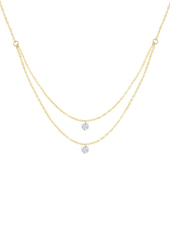 Khoe yellow Khoe 18K Yellow Gold Poppy Diamond Necklace CB2D9AC142406BGS_1