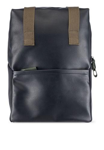 ZALORA black Mixed Materials Backpack 77202AC855DB3BGS_1