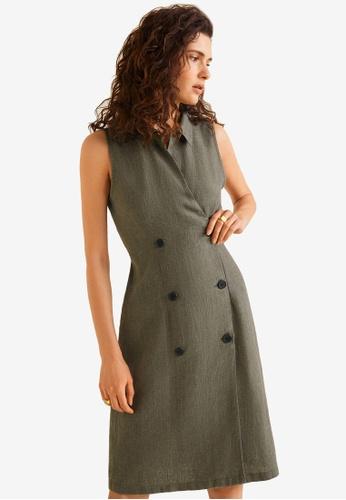 234c9932f Buy Mango Striped Linen Dress   ZALORA HK