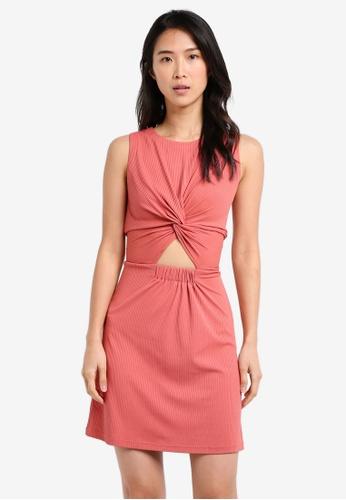 ZALORA pink Tank Dress With Twist Front DC5BEAA0699222GS_1