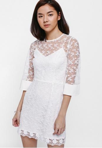 Danika Lace Overlay Dress