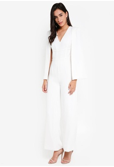54% OFF Lavish Alice Deep Plunge Cape Wide Leg Jumpsuit S  225.90 NOW S   103.90 Sizes 14 d199a1721