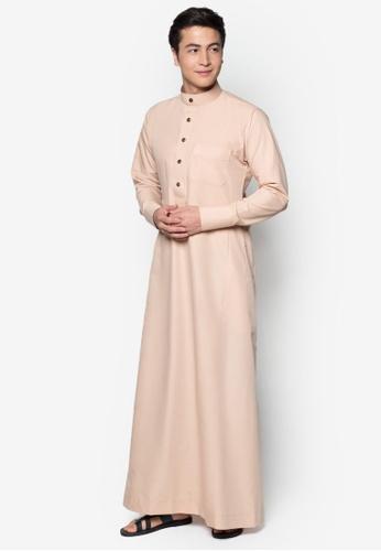 Amar Amran beige Jubah A Slim Fit AM362AA78MJHMY_1